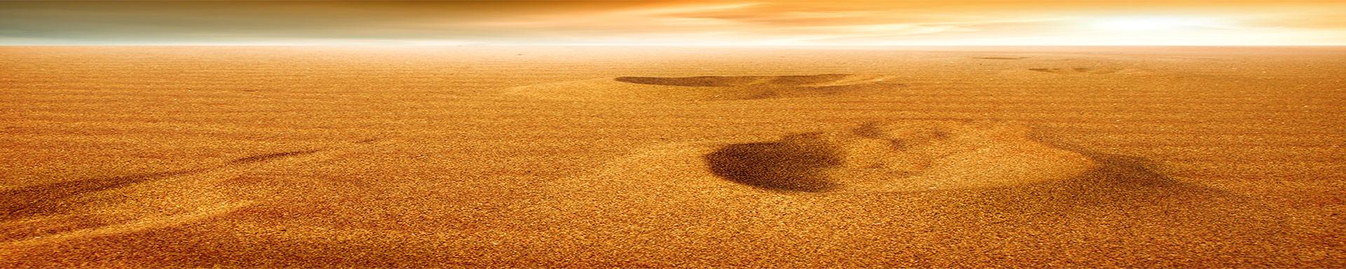 Kirche-Titel-Background-Footprints-Sand